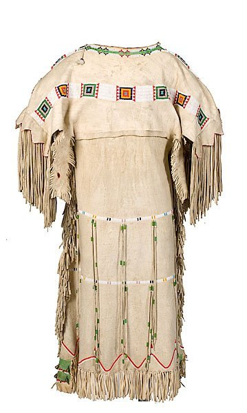 462: Southern Cheyenne Beaded Hide Dress,