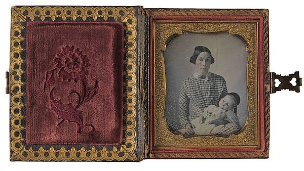 523: Double 6th Plate Postmortem Daguerreotypes