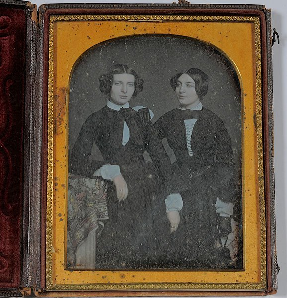 526: Half Plate Daguerreotype of Two Attractive Young W