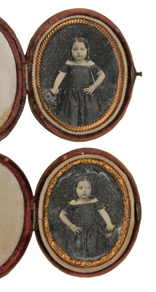 529: Pair of Reversed Ninth Plate Daguerreotypes of the
