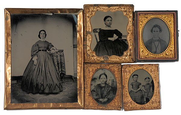 533: Early Ambrotypes and Tintypes, Mainly Women and Ch