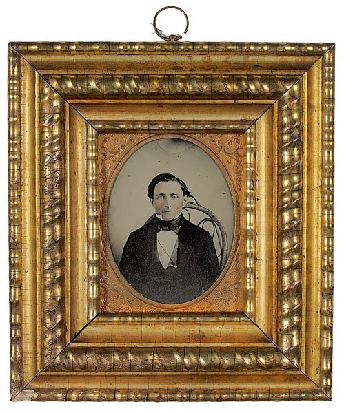 534: Half Plate Ambrotype of Well-Dressed Gentleman,