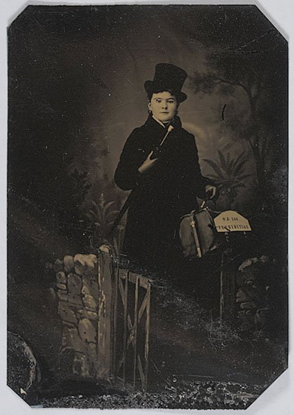 539: Female Prohibitionist Sixth Plate Tintype,