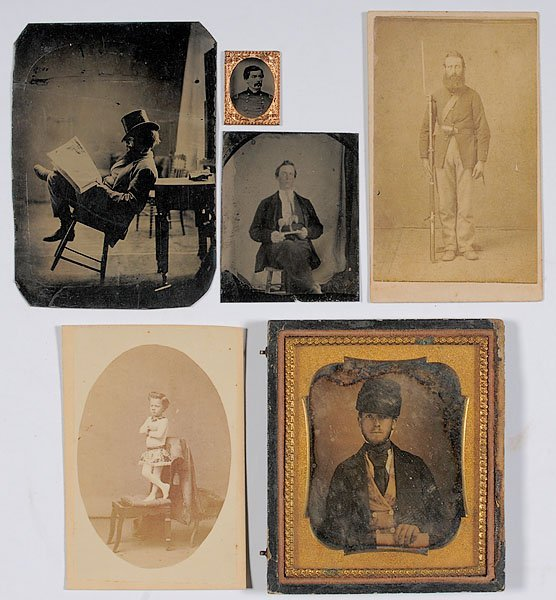 541: Gathering of Unique Tintypes, CDVs, and a Daguerre