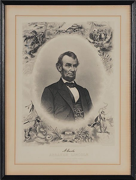 597: J.C. Buttre Memorial Engraving of Abraham Lincoln,