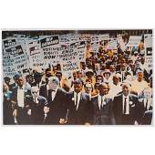 [CIVIL RIGHTS]. Postcard documenting March on