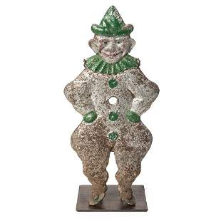 A H.C. Evans Painted Cast-Iron Turn Over Clown-Form...