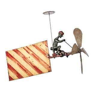 A Cast Iron and Sheet Copper Cycling Automaton...