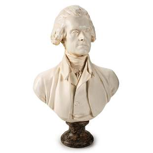 A Parian Bust of Thomas Jefferson, Alva Studios, 1957