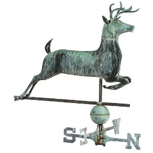 A Molded Sheet Copper and Cast Zinc Leaping Stag