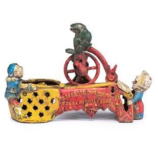 A Mother Goose Circus Cast Iron Mechanical Bank