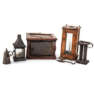 Three Lanterns and Early Tin Wares