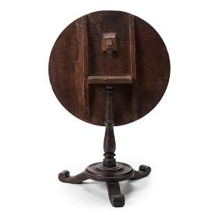 A Miniature Tilt-Top Tea Table in Mahogany