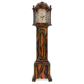 A Federal Grain-Painted Tall Case Clock with Works by