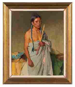 369: Joseph Henry Sharp (American, 1859-1953),