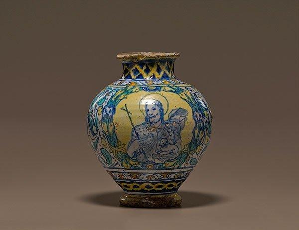13: Early Italian Faience Jar,