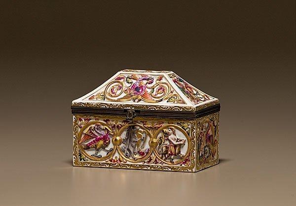 15: Capo-di-Monte Jewelry Casket,