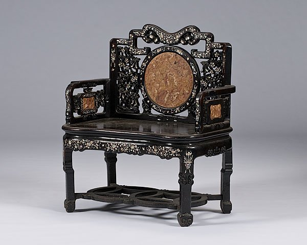 313: Chinese Pierced and Carved Bench