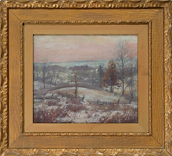 381: Winter Landscape by Louis Charles Vogt (American,