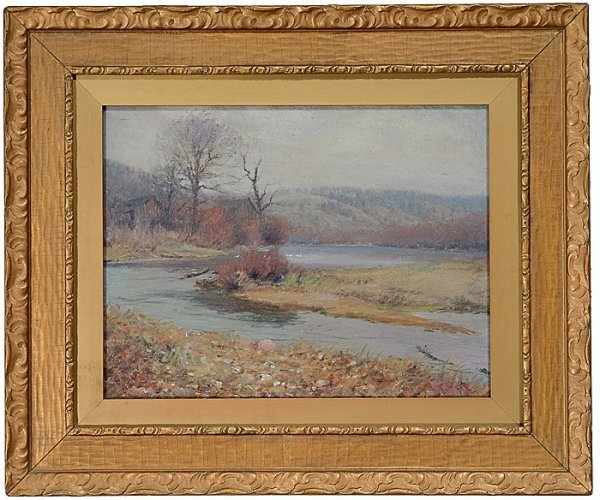 382: River Landscape by Louis Charles Vogt (American, 1