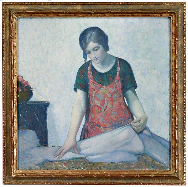 729: Laundress by Myron G. Barlow (American, 1873-1937)