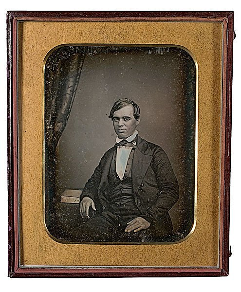 1: Early, Oversized Half Plate Daguerreotype from Brist