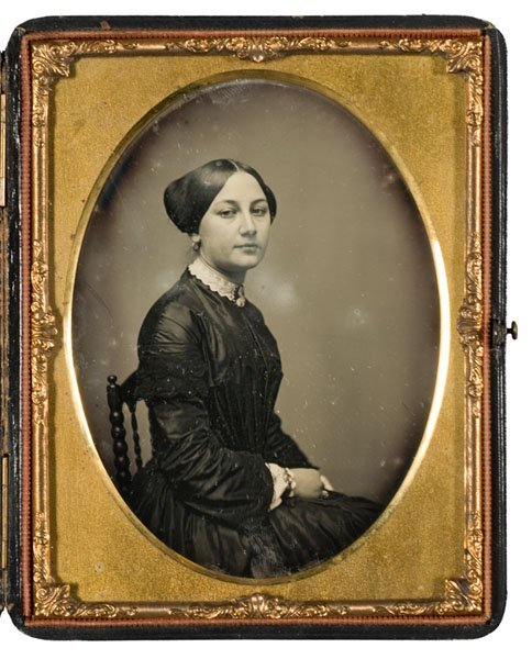 6: Half Plate Daguerreotype of Young Woman