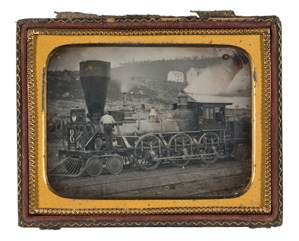 8: Quarter Plate Dag of Steam Locomotive, N.Y. & E.R.R.