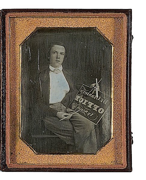 9: Quarter Plate Daguerreotype of a Young Sign Maker