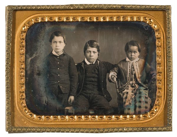 11: J.P. Ball Quarter Plate Daguerreotype of Mulattoes