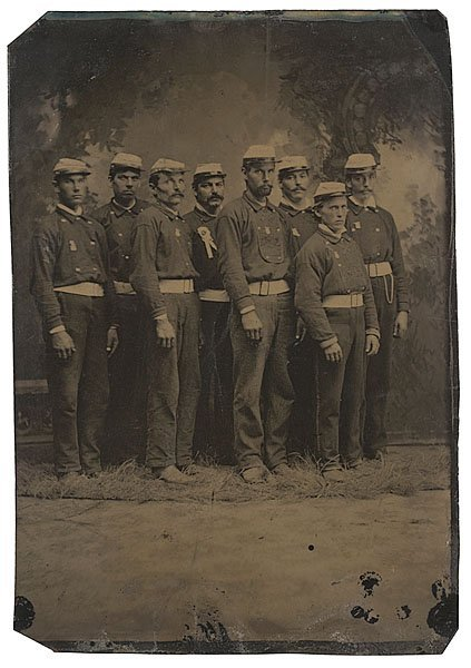 20: Half-Plate Tintype of Civil War Era Fire Brigade