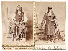 253: American Indian Photos of Sioux & Cheyenne Chiefs