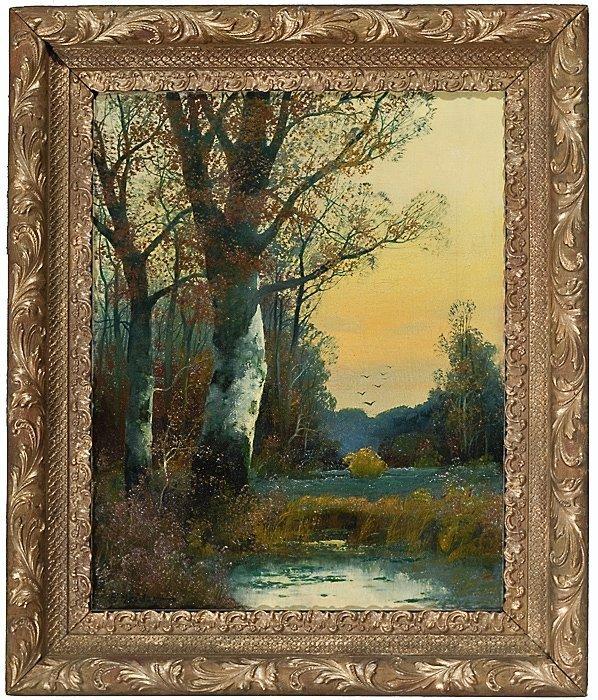 5: Landscape by Fritz Heider (German, 1868-1933)