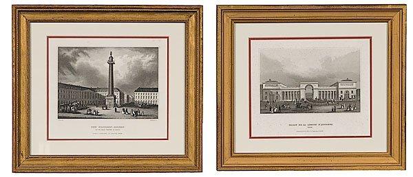 24: Engravings of French Landmarks