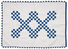 132 Childs Irish Chain Pieced Quilt