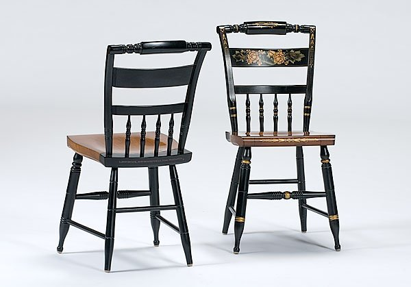 181: Pair of Stenciled L. Hitchcock Chairs