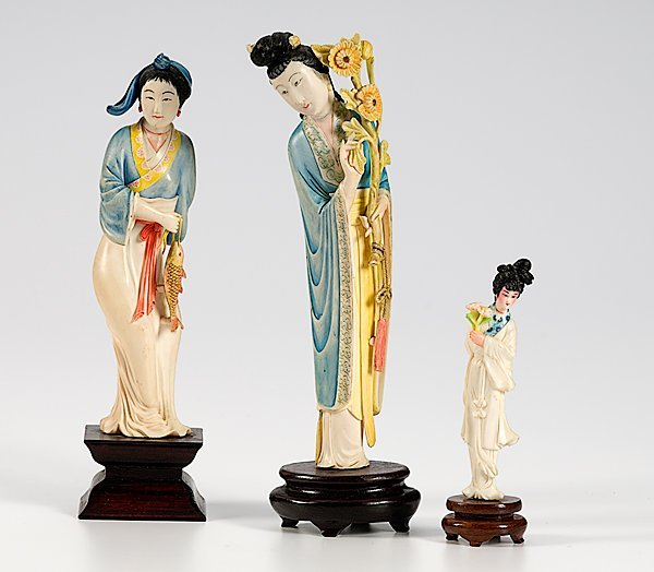 304: Group of Three 20th Century Japanese Ivory Figures