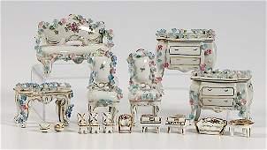 431 2 Sets Limoges Porcelain Doll House Furniture