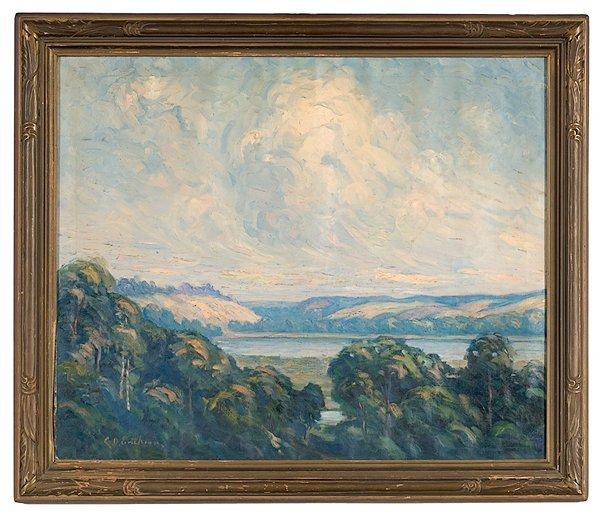 1: Landscape by Carl O. Erickson, Oil on Canvas