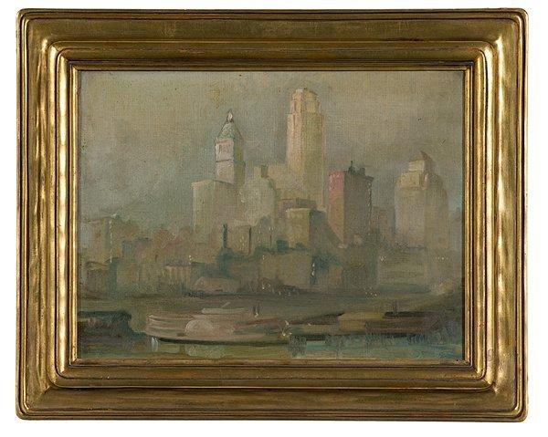 2: Downtown Cincinnati, Oil on Canvas