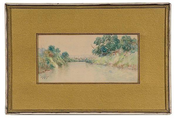 3: Kentucky Landscape by Paul Sawyier, Watercolor