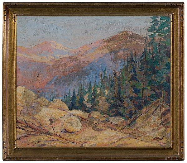6: Landscape by Herbert Nelson Hooven, Oil on Board