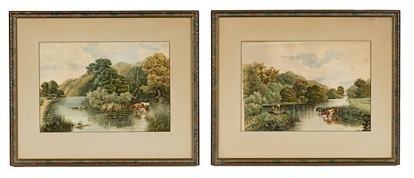 11: Minnesota Scenes by L. Wright, Watercolor on Paper