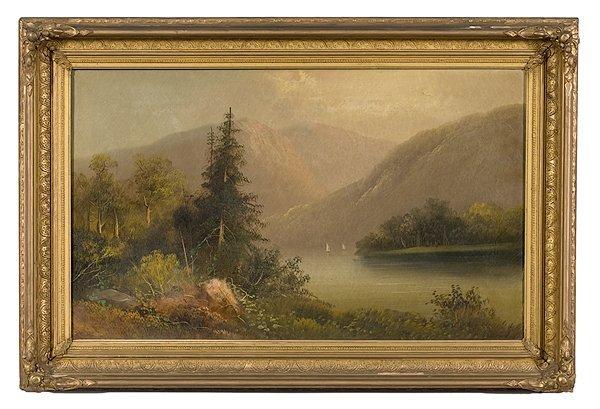 23: Hudson River School Scene, Oil on Canvas