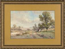 32 Landscape by Frank English Watercolor on Paper