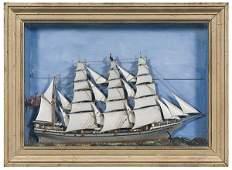 34: Ship Diorama of Four-Master