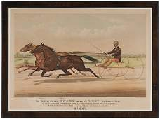 48 Folio Currier and Ives Trotting Print