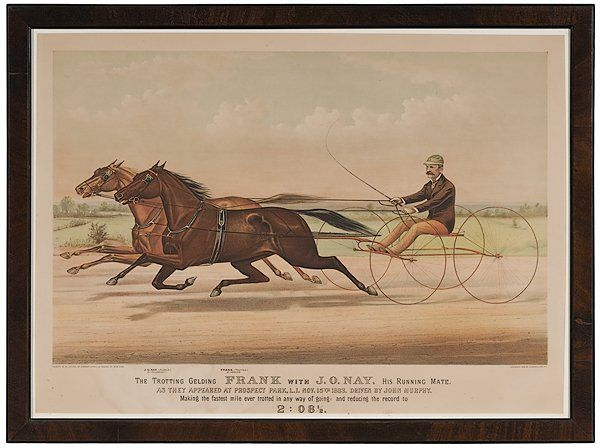 48: Folio Currier and Ives Trotting Print