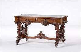 160 Renaissance Revival Library Table