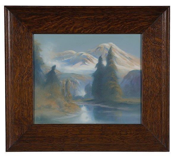187: Rookwood Vellum Landscape Plaque by Rothenbusch
